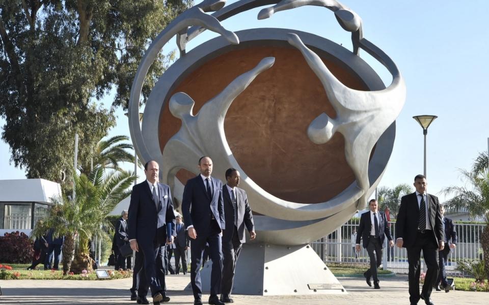 Arrivée du Premier ministre au Palais des Congrès pour l'ouverture du Forum économique