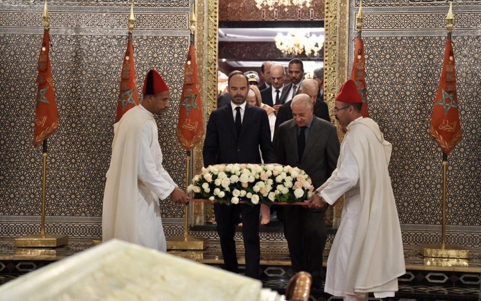 Arrivée du Premier ministre dans le Mausolée Mohammed V