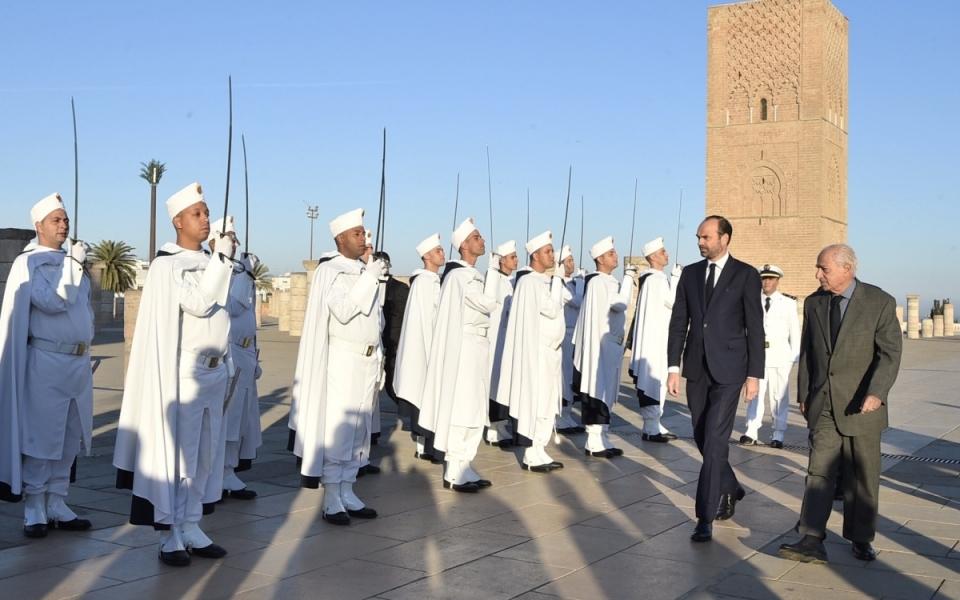 The Prime Minister arrives at the Mohammed V Mausoleum