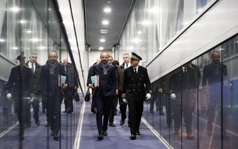 Arrivé à Brest, le Premier ministre se rend à la Préfecture maritime de l'Atlantique
