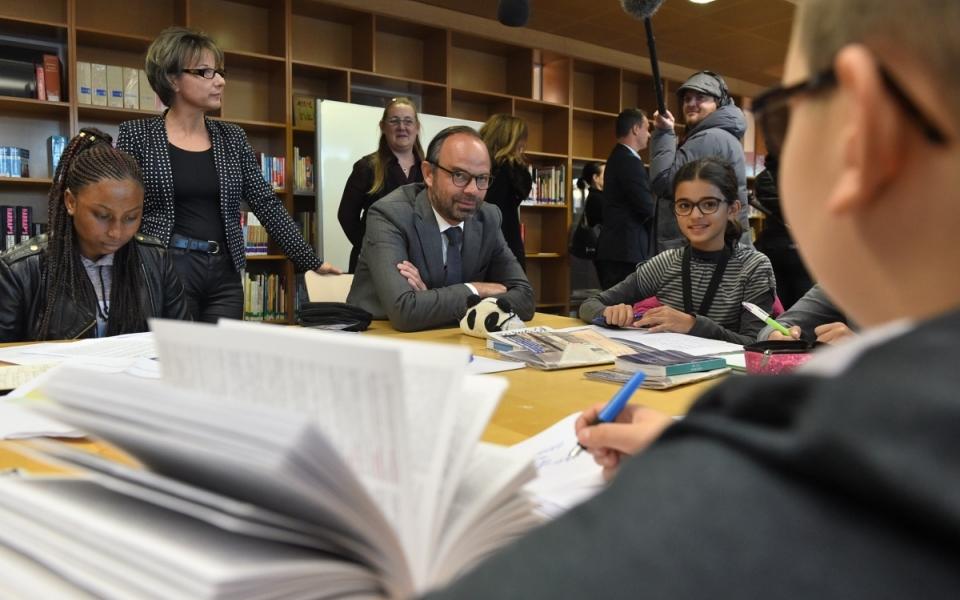 """Le Premier ministre s'est rendu au collège Jean Perrin à Nanterre dans le cadre de la mise œuvre du dispositif """"Devoirs faits"""""""