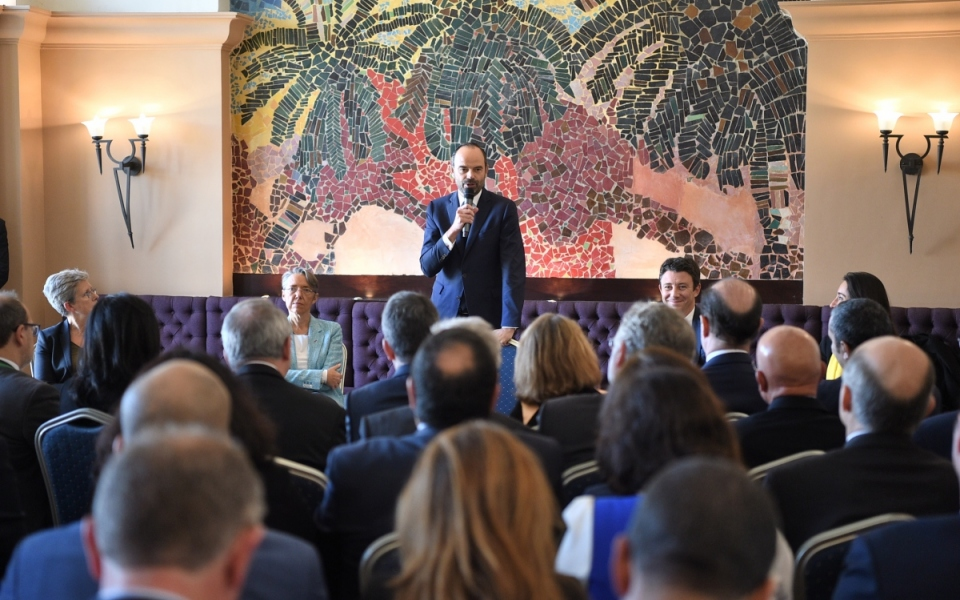 Meeting with French businessmen taking part in the Economic Forum (Amphitrite Palace Hotel)