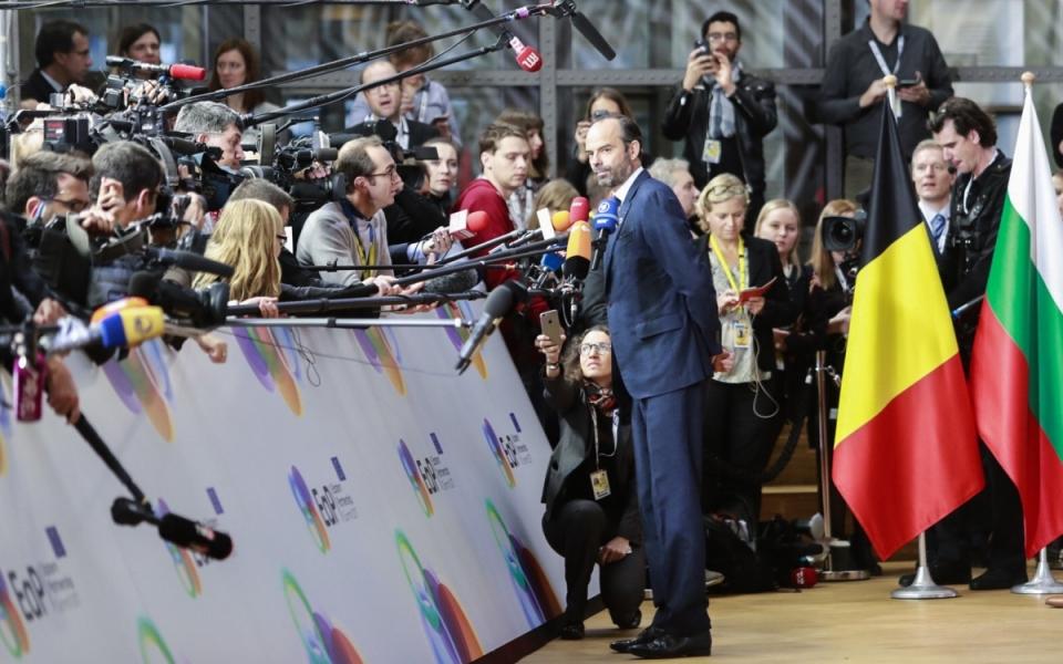 Déclaration à la presse d'Edouard Philippe, à son arrivée à Bruxelles