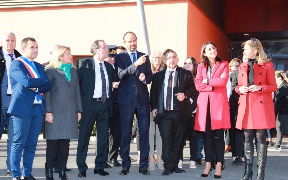 Photo de groupe au lycée La Fourragère