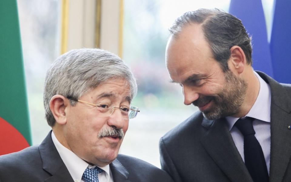 Le Premier ministre et son homologue algérien, Ahmed Ouyahia.