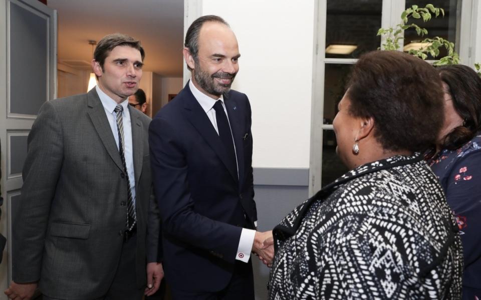 Édouard Philippe et le maire de Cahors, Jean-Marc Vayssouze-Faure