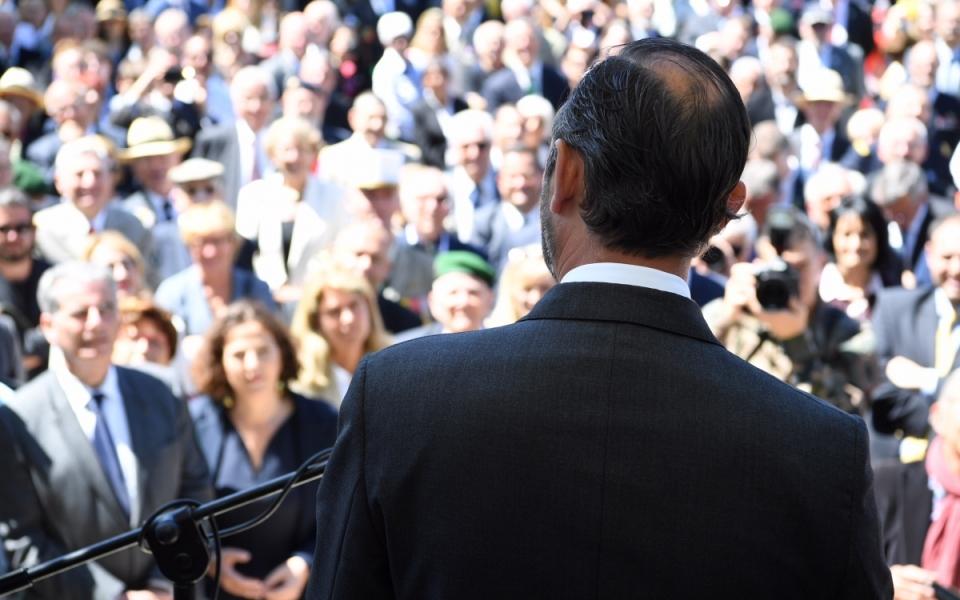 Le Premier ministre, Édouard Philippe, lors de son discours devant la Légion étrangère