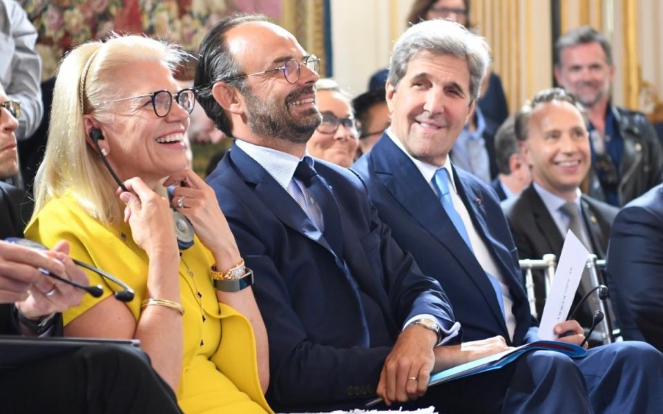 Le Premier ministre entouré de John Kerry et de Ginni Rometty (IBM)