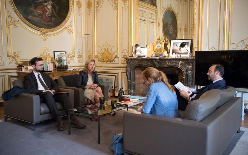 le Premier reçoit  Isabelle Falque-Perrotin, présidente de la Commission nationale de l'informatique et des libertés (CNIL)