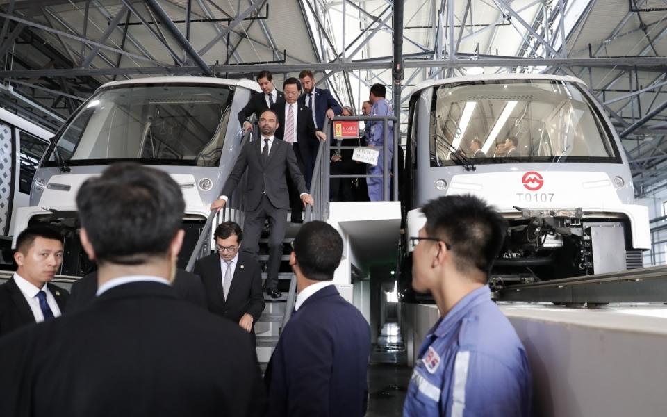 Le 23 juin 2018 : visite d'Edouard Philippe du métro PuJiang Line
