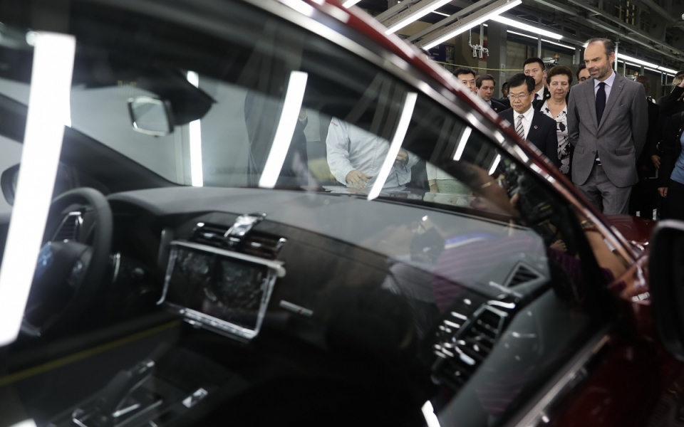 Le 22 juin 2018 : Visite de la chaîne d'assemblage de la DS7 site de Chang'an PSA