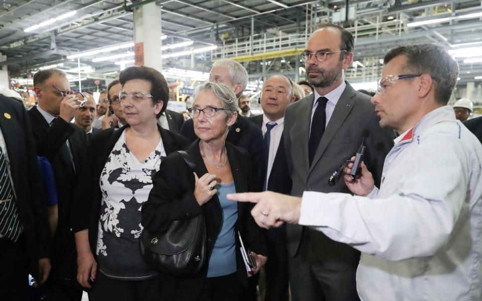 Le 22 juin 2018 : le Premier ministre est entouré des ministres Fédérique Vidal et Elisabeth Borne
