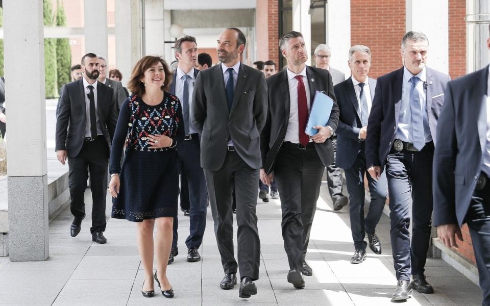 08/06 - Arrivée du Premier ministre au Conseil régional où il a été accueilli par Carole Delga, présidente de la région Occitanie / Pyrénées-Méditerranée