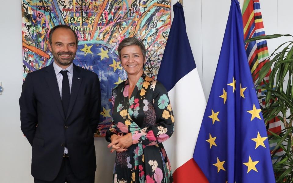 Edouard Philippe et Margrethe Vestager