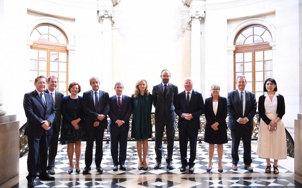 Photo de groupe au Conseil d'État.