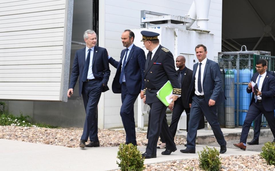Le Premier ministre, Édouard Philippe, en visite  à l'Institut de Recherche Technologique M2P