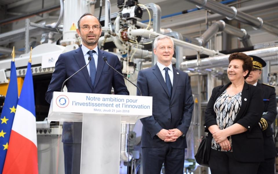 Le Premier ministre, Édouard Philippe, prononce un discours pour présenter l'ambition de la France  en matière d'innovation et de