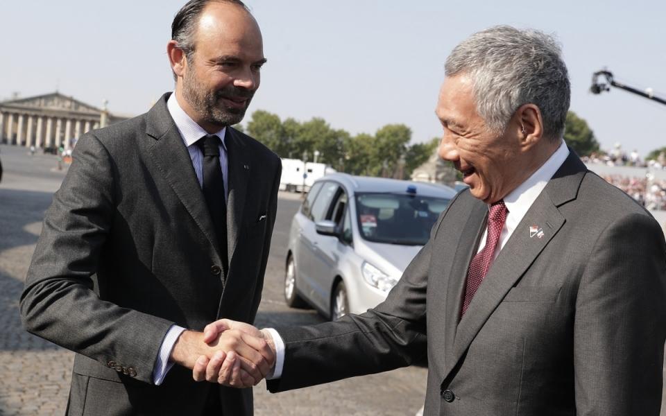 Le Premier ministre, Edouard Philippe, accueille Lee Hsien Loong, Premier ministre de Singapour