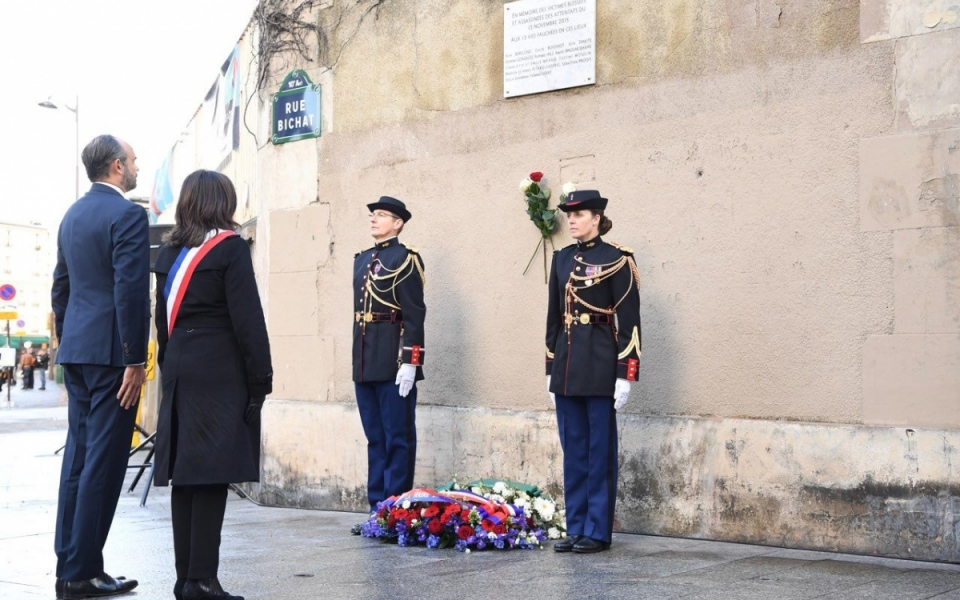 Le Premier ministre, Édouard Philippe, et Anne Hidalgo, maire de Paris