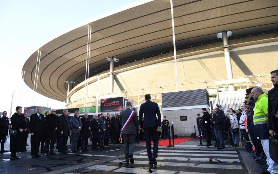 Le Premier ministre, Édouard Philippe, arrive au Stade Saint-Denis