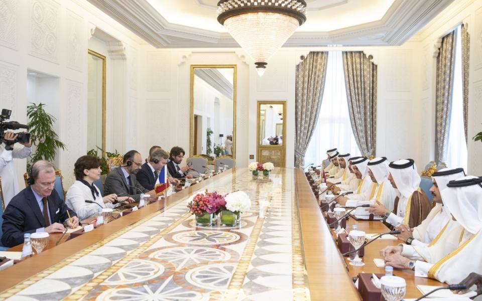 Déjeuner de travail offert par M. Abdallah Bin Nasser Bin Khalifa AL THANI