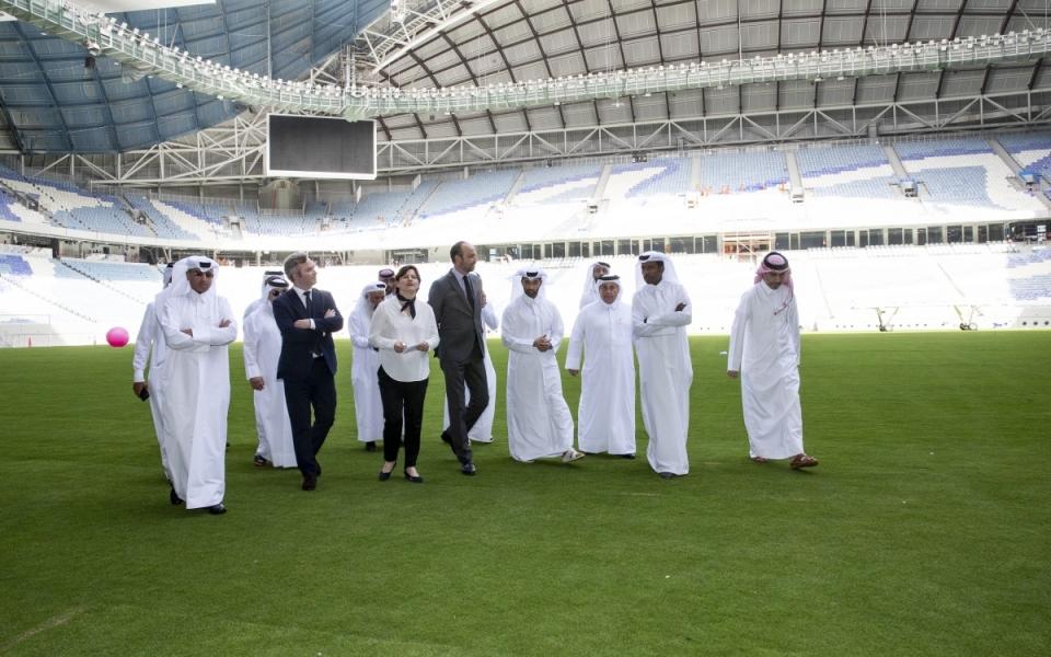 Visite du stade d'Al-Wakra