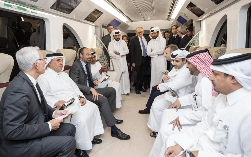 Visite de la station de métro Doha Jedida et présentations des expertises des entreprises françaises