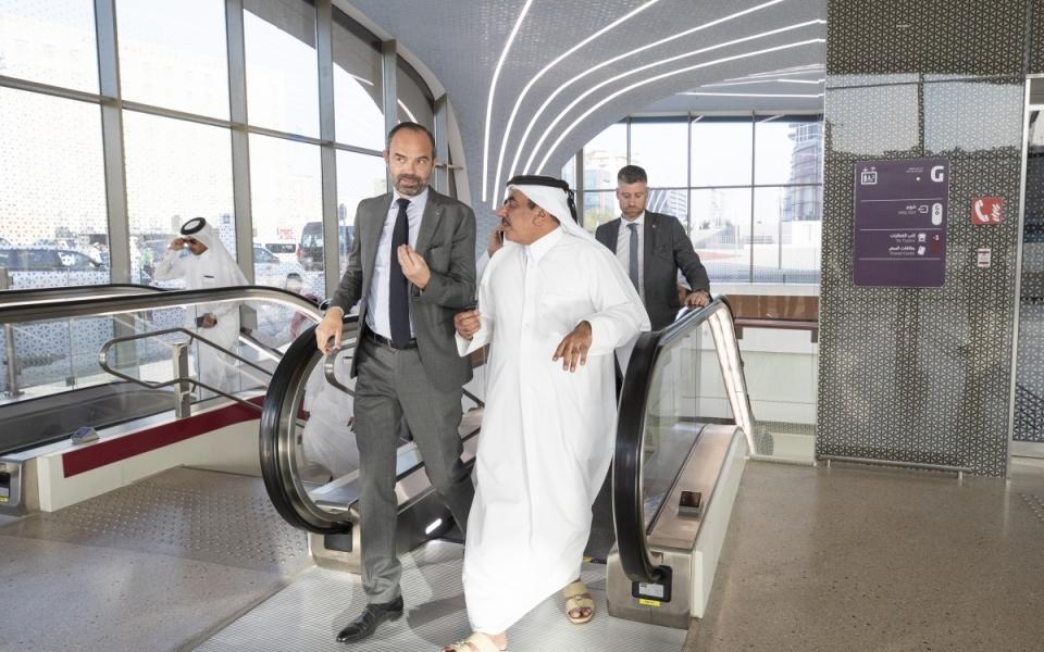 Visite de la station de métro Doha Jedida