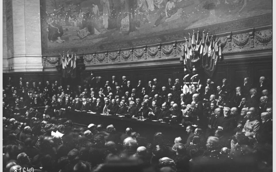 28/02/1923. Centenaire de la naissance d'Ernest Renan à la Sorbonne