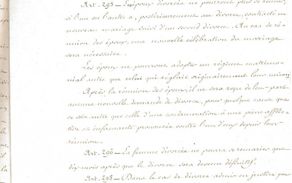 Loi Naquet du 27 juillet 1884 relative au rétablissement du divorce