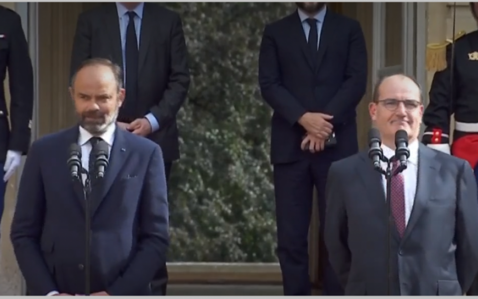 Handover between Édouard Philippe and Jean Castex