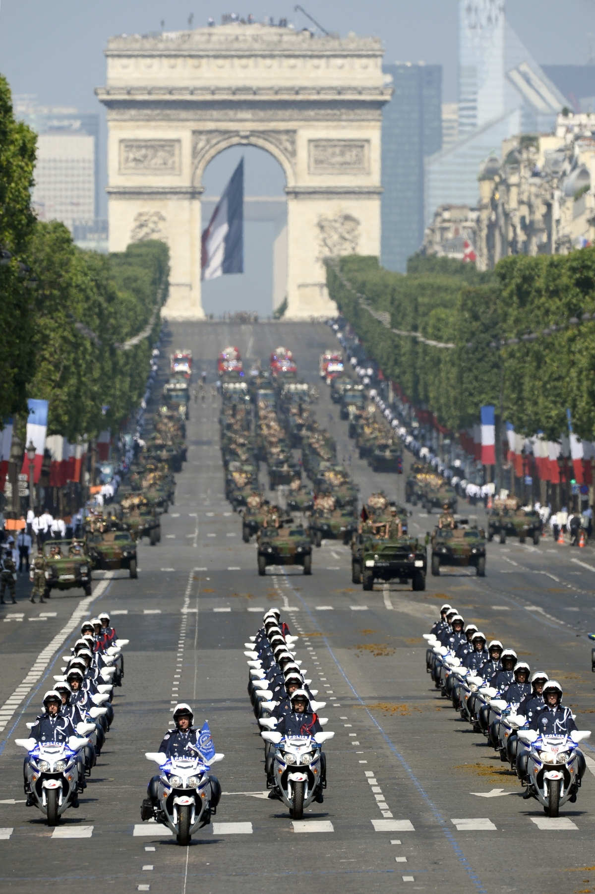 Military parade on the Champs-Elysées