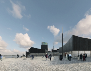 Dessin du projet Guggenheim d'Helzinki