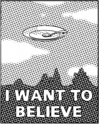 "Affiche ""i want to believe"""