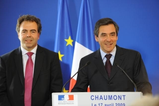 Luc Chatel, ministre de l'Education nationale et François Fillon