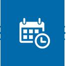 Picto représentant un calendrier et une horloge