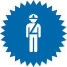Picto représentant un policier