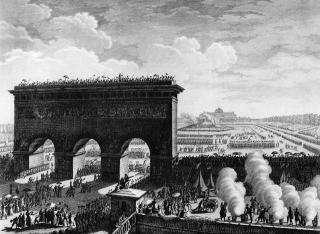 Fete de la Federation le 14 juillet 1790 au Champs de Mars a Paris