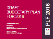 France's DRAFT BUDGETARY PLAN FOR 2016