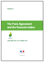 COp21 - The Paris Agreement and the financial stake