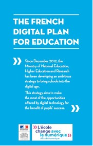 French Digital Plan For Education
