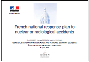 French national response plan to nuclear or radiological accidents