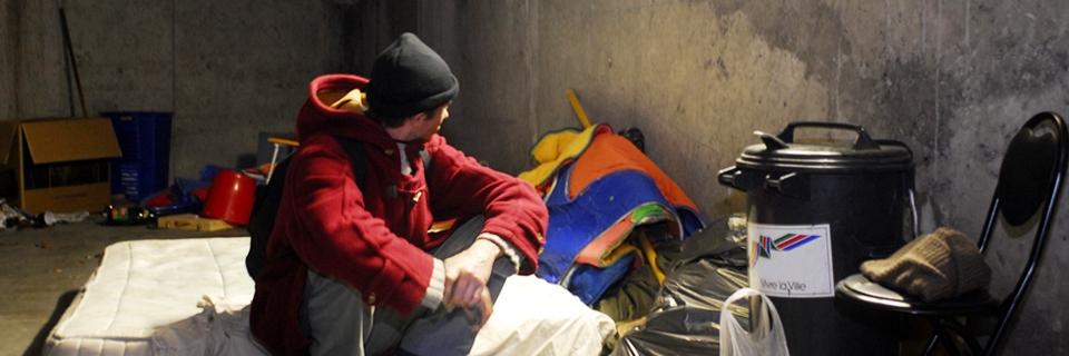 Photo d'une personne sans domicile fixe en 2007