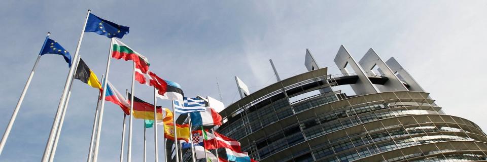 Vue extérieure du Parlement européen à Strasbourg