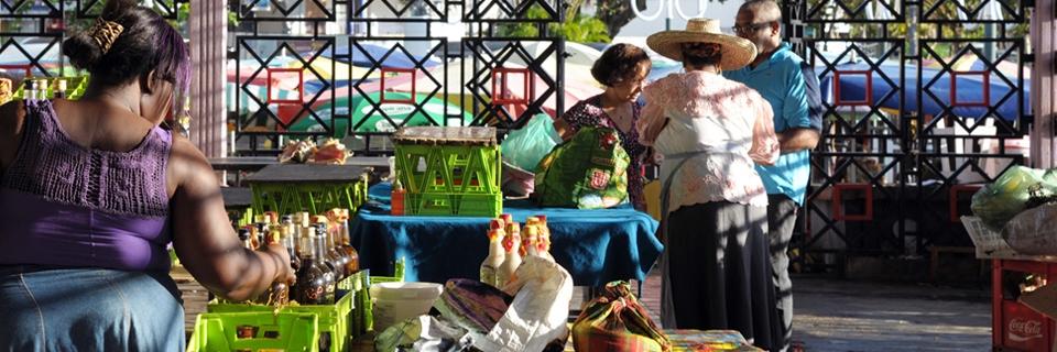 Photo d'un marché à Pointe-à-Pitre (Guadeloupe)