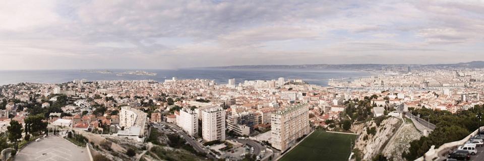 Vue sur la rade de Marseille depuis Notre Dame de la garde.