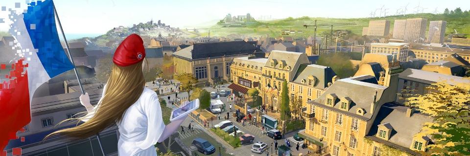 Illustration de la France numérique