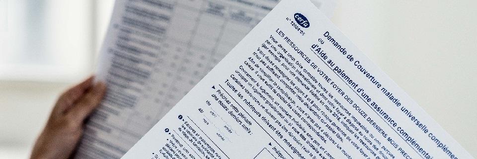 Formulaire de demande de prise en charge par la Couverture Maladie Universelle (CMU)