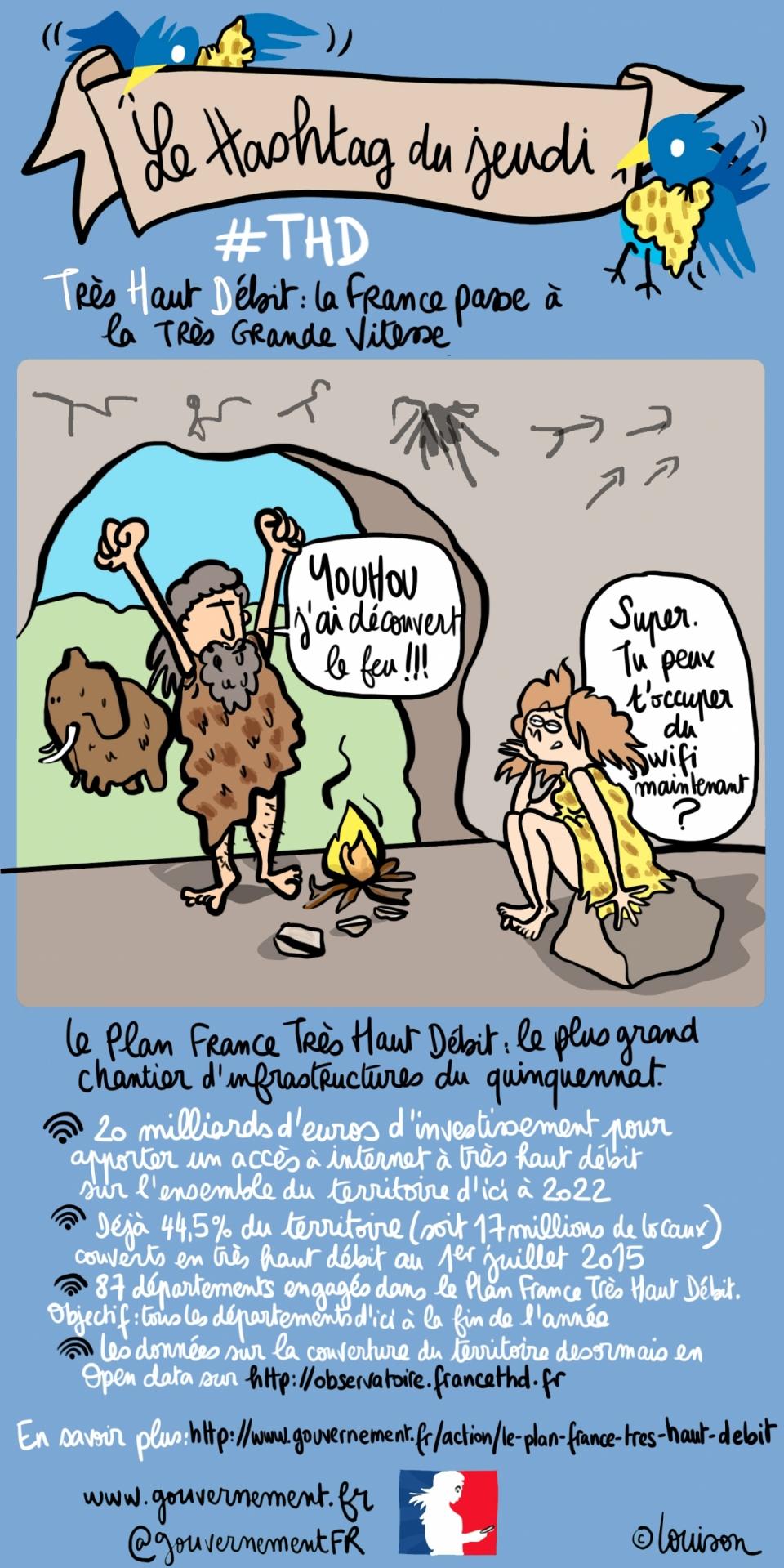 dessin sur le #THD : la France passe à la Très Grande Vitesse  - voir en plus grand