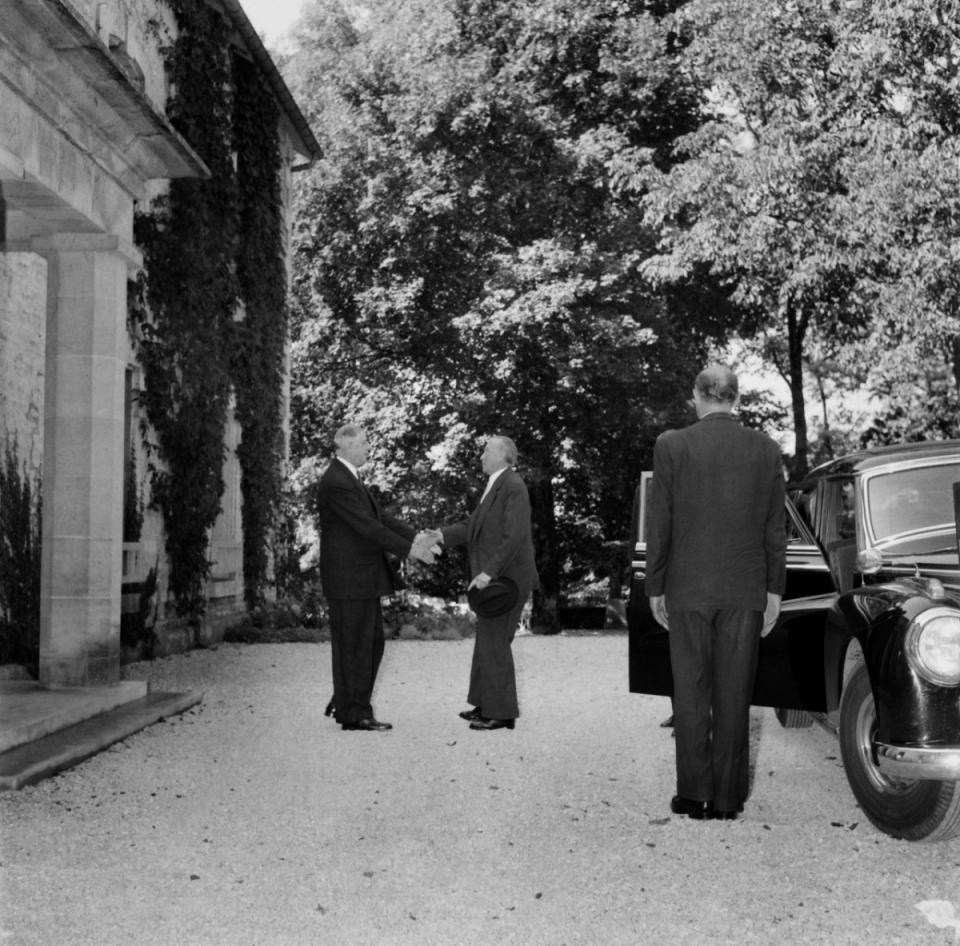 14 et 15 septembre 1958 : première rencontre entre le général de Gaulle et le Chancelier Adenauer - voir en plus grand
